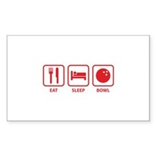 Eat Sleep Bowl Decal