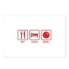 Eat Sleep Bowl Postcards (Package of 8)
