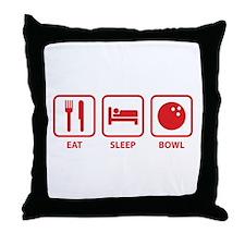 Eat Sleep Bowl Throw Pillow