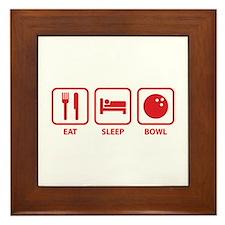 Eat Sleep Bowl Framed Tile