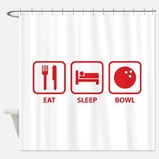 Eat Sleep Bowl Shower Curtain