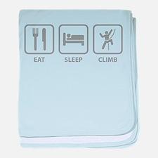 Eat Sleep Climb baby blanket
