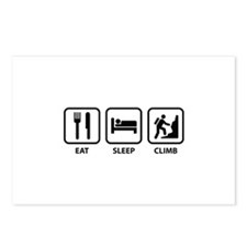 Eat Sleep Climb Postcards (Package of 8)