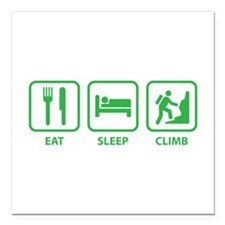 "Eat Sleep Climb Square Car Magnet 3"" x 3"""