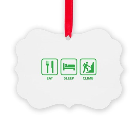 Eat Sleep Climb Picture Ornament
