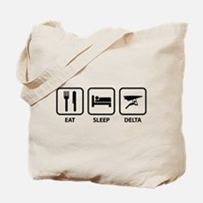 Eat Sleep Delta Tote Bag