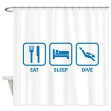 Eat Sleep Dive Shower Curtain