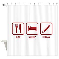 Eat Sleep Draw Shower Curtain