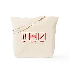 Eat Sleep Draw Tote Bag
