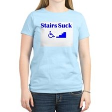 Women's Pink Stairs Suck T-Shirt
