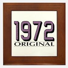1972 Original Framed Tile