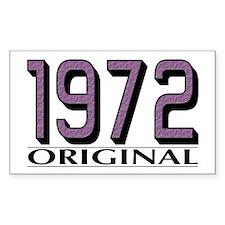 1972 Original Rectangle Decal