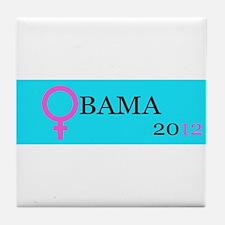 Women for Obama Tile Coaster