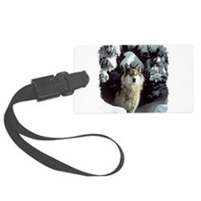 gray wolf Luggage Tag