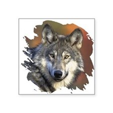 "wolf Square Sticker 3"" x 3"""