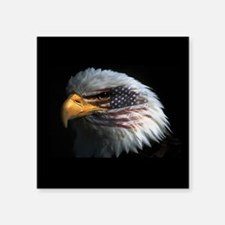 "eagle3d.png Square Sticker 3"" x 3"""