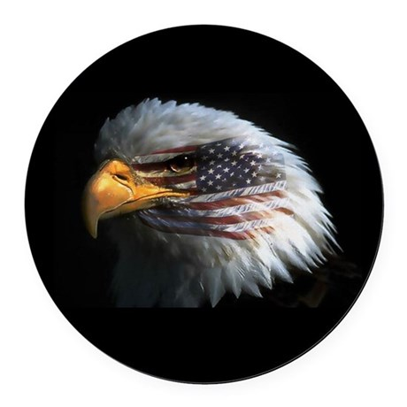 eagle3d.png Round Car Magnet