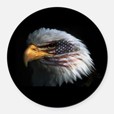 eagle3d.png Round Car Magnet