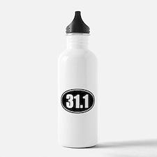 31.1 50k oval black sticker decal Water Bottle