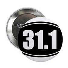 "31.1 50k oval black sticker decal 2.25"" Button"