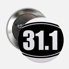 "31.1 50k oval black sticker decal 2.25"" Button"