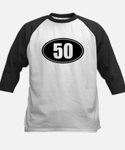 50 mile black oval sticker decal Tee