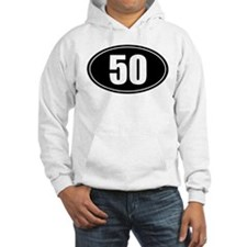50 mile black oval sticker decal Hoodie