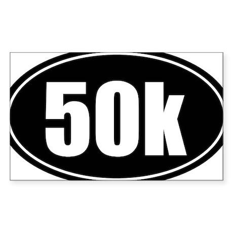 50k 31.1 black oval sticker decal Sticker (Rectang