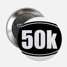 "50k 31.1 black oval sticker decal 2.25"" Button"