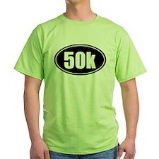 50k 31.1 black oval sticker decal T-Shirt