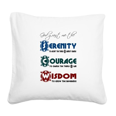 serenity3d.png Square Canvas Pillow