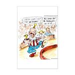 Joe Biden Circus Act Mini Poster Print