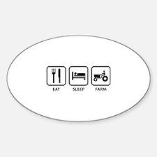 Eat Sleep Farm Sticker (Oval)