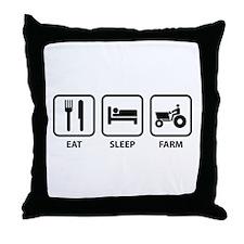 Eat Sleep Farm Throw Pillow