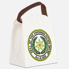 Seal of Cherokee Nation Canvas Lunch Bag