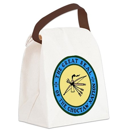 3-sealchoctaw1.png Canvas Lunch Bag