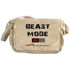 Beast Mode Workout Motivation Messenger Bag