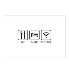 Eat Sleep Internet Postcards (Package of 8)