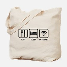 Eat Sleep Internet Tote Bag