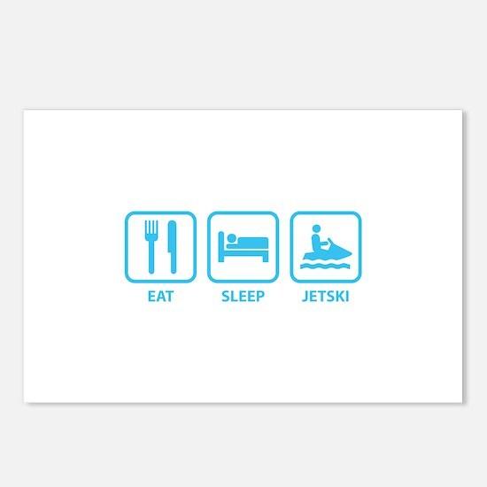 Eat Sleep Jetski Postcards (Package of 8)