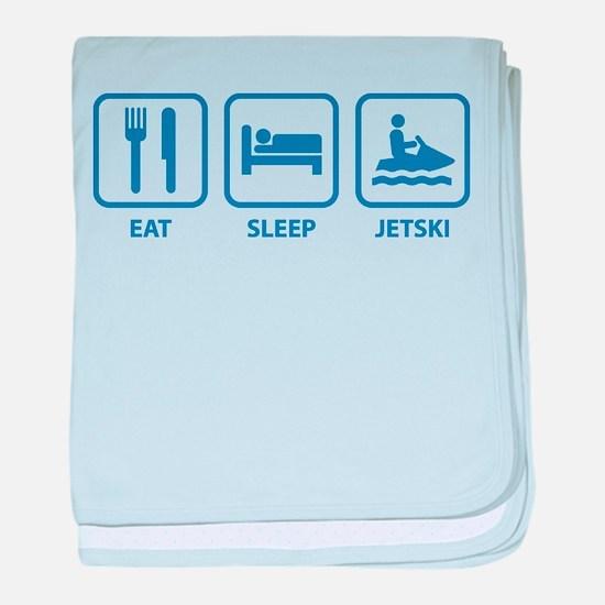 Eat Sleep Jetski baby blanket