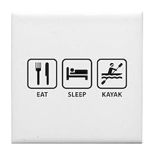 Eat Sleep Kayak Tile Coaster