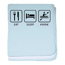 Eat Sleep Kayak baby blanket