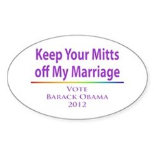 Keep Your Mitts off My Marriage Decal
