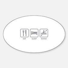 Eat Sleep Kayak Sticker (Oval)