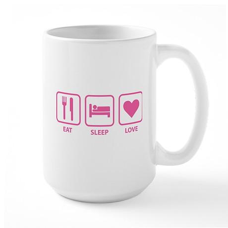 Eat Sleep Love Large Mug