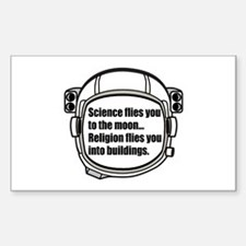 Science flies you to the moon Decal