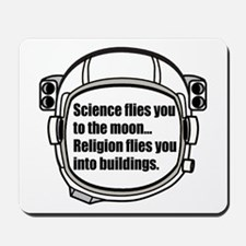 Science flies you to the moon Mousepad