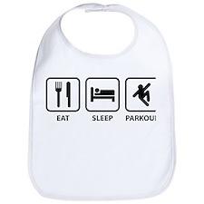 Eat Sleep Parkour Bib