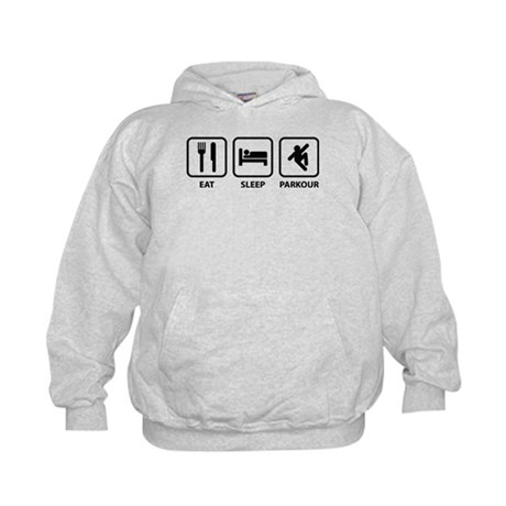 Eat Sleep Parkour Kids Hoodie